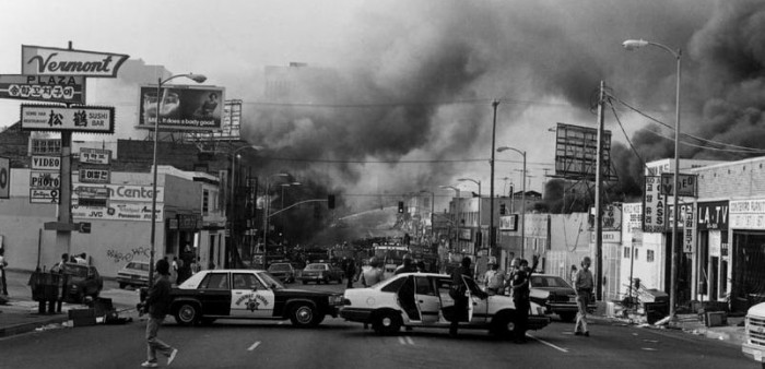 The aftermath of the L.A. riots. (Photo courtesy of the Society for U.S. Intellectual History.)