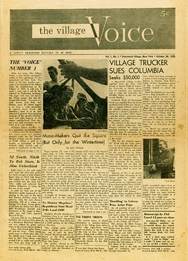 The Village Voice in 1955.